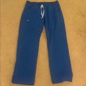 Figs Royal Blue Kade cargo scrub pants. Size: M